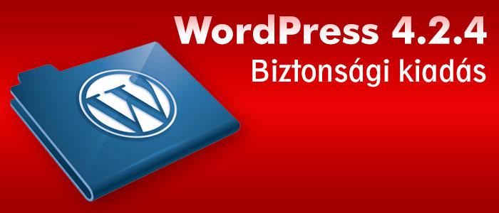 WordPress biztonsági kiadás 4.2.4