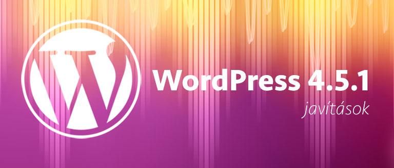WordPress 4.5.1 (tovább csiszolva)
