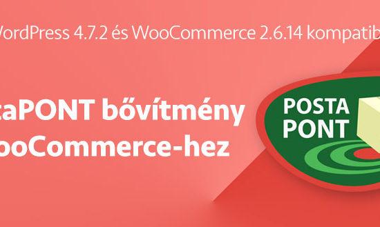 Wordpress PostaPONT szállítási mód + WooCommerce 2.6.14