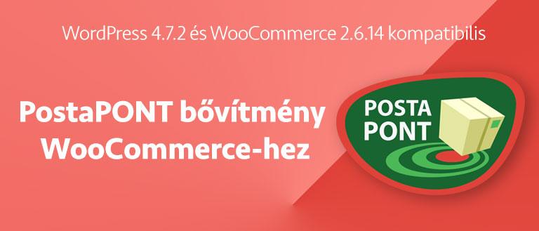PostaPONT bővítmény WooCommerce-hez