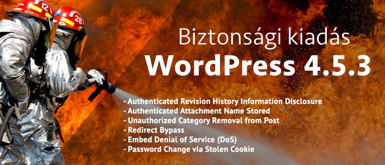 WordPress 4.5.3 Biztonsági kiadás elérhető