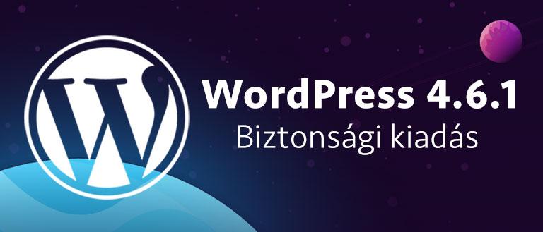 WordPress 4.6.1 – biztonsági kiadás