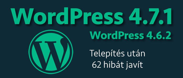 WordPress 4.7.1 / WP 4.6.2 biztonsági kiadás