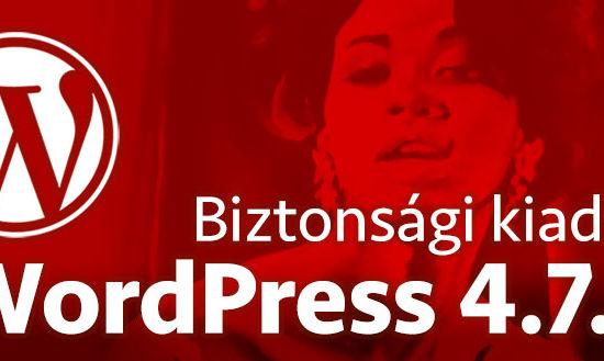 WordPress 4.7.3 biztonsági kiadás