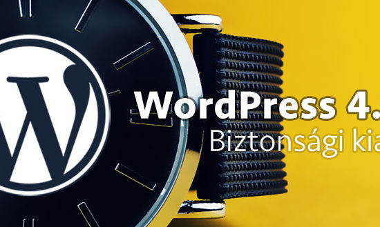 WordPress 4.7.4 - biztonsági kiadás