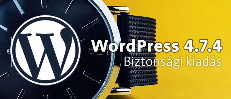 WordPress 4.7.4 biztonsági kiadás