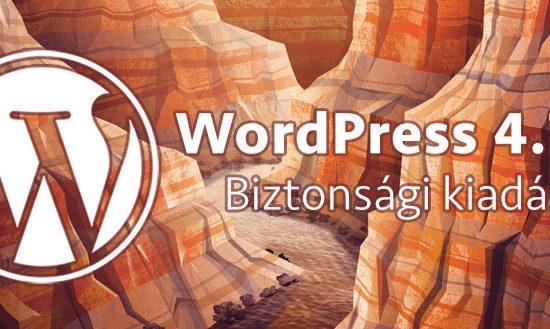 WordPress 4.7.5 - biztonsági kiadás
