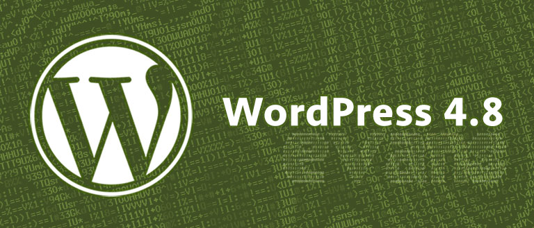 WordPress 4.8 verzió